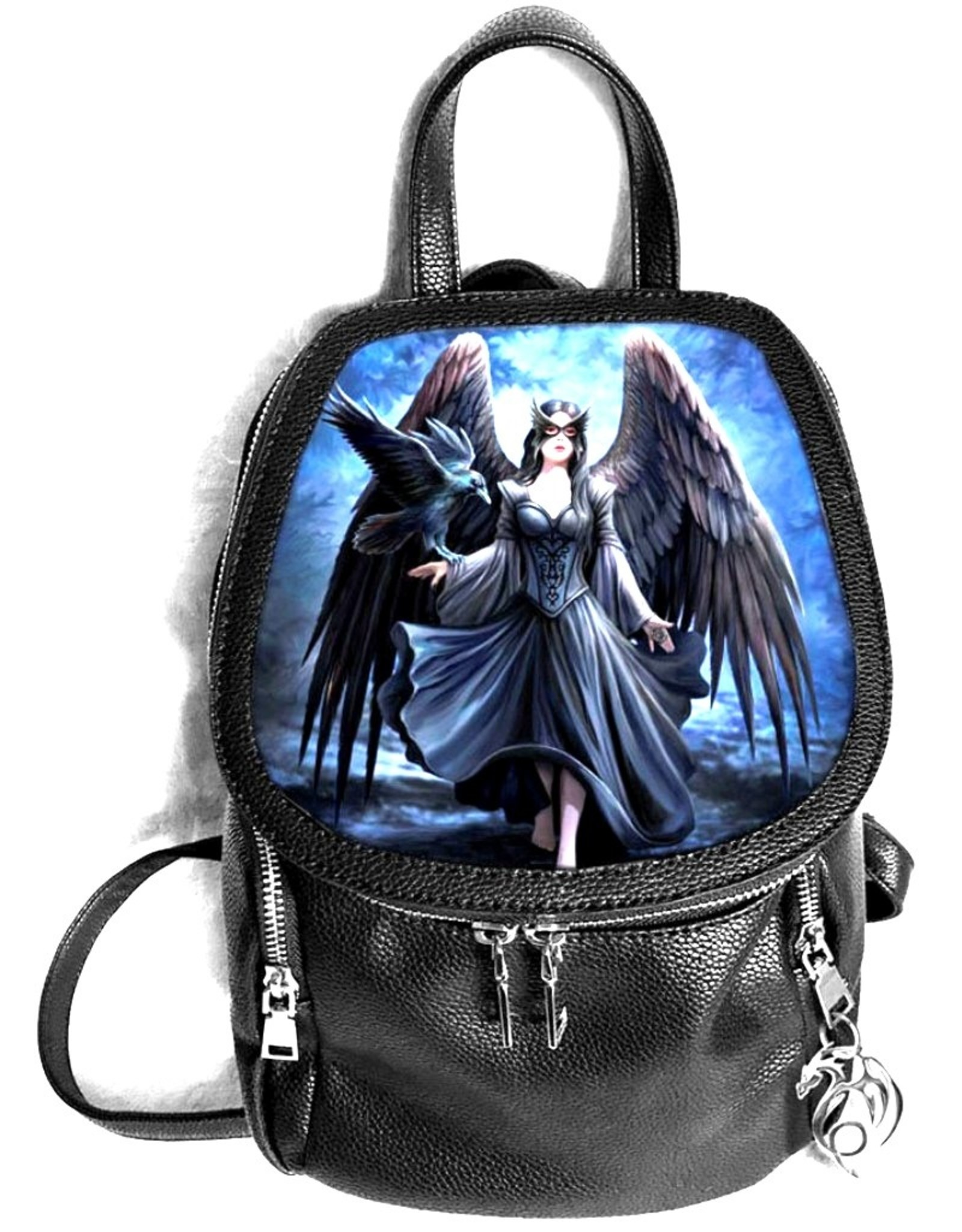 Anne Stokes Gothic bags Steampunk bags - Anne Stokes Dark Engel and Raven backpack 3D