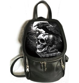 Alchemy Skull and Raven backpack with 3D image