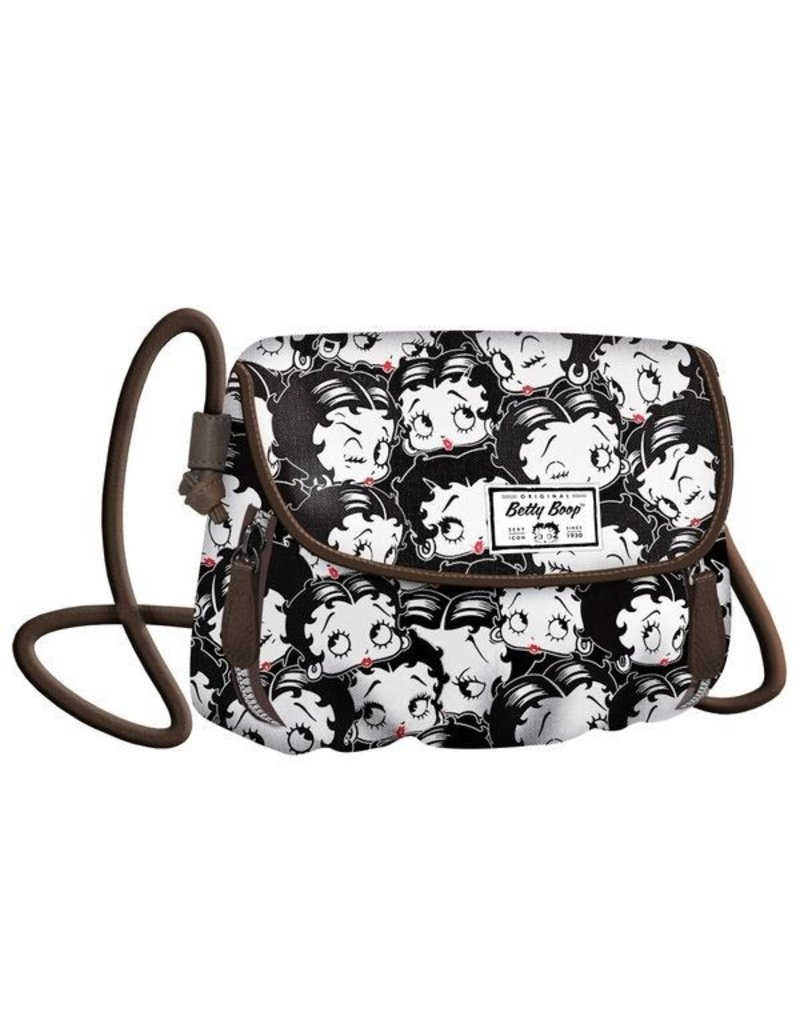 Betty Boop Merchandise tassen - Betty Boop Schoudertas  Clamy zwart