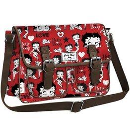 Betty Boop Betty Boop messenger tas rood