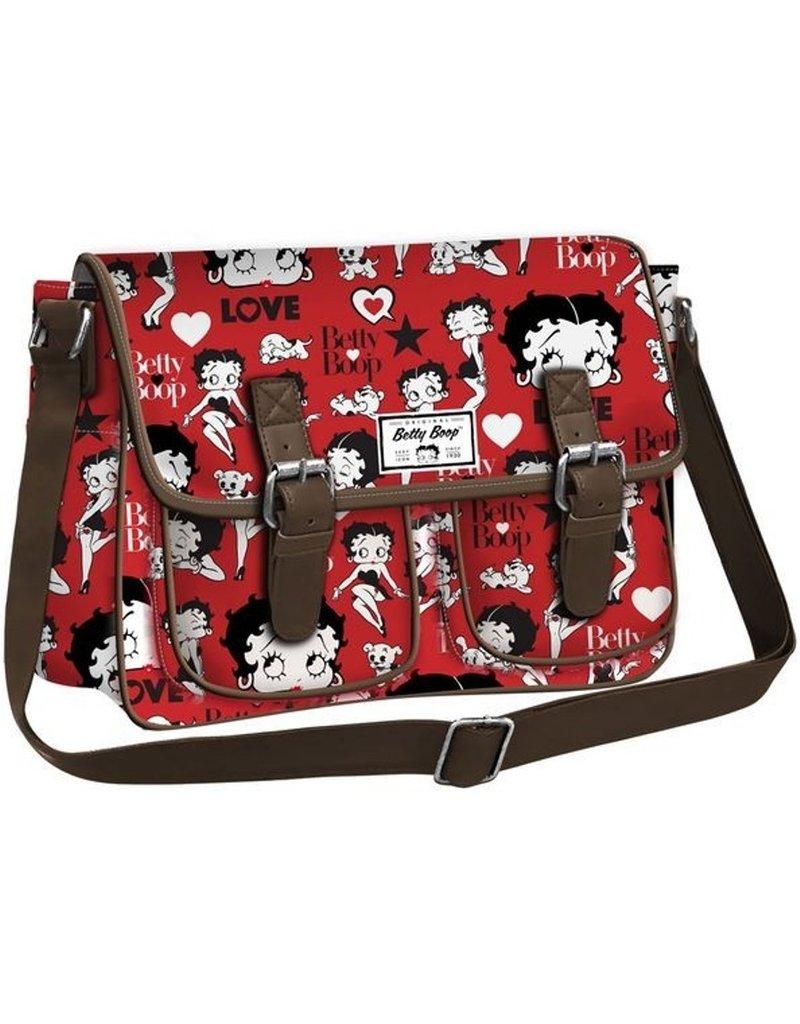 Merchandise tassen - Betty Boop messenger tas rood
