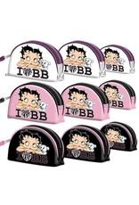 Betty Boop Merchandise tassen - Betty Boop Toilettas I Love BB Wit (set van 3)