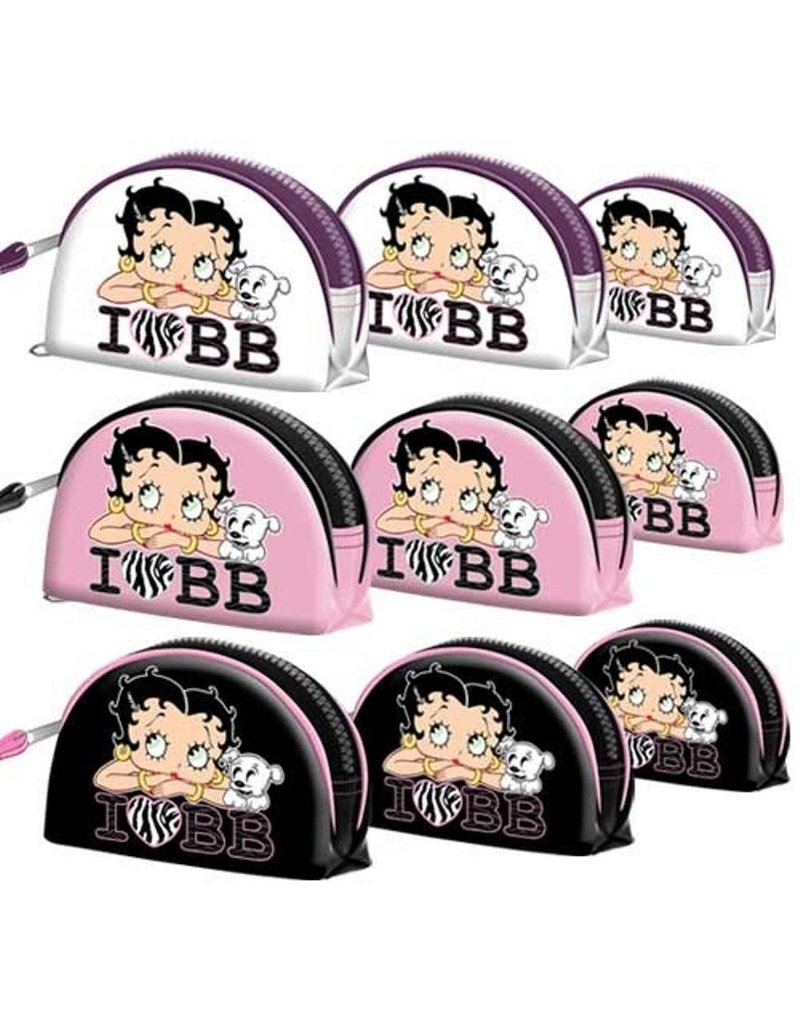 Merchandise tassen - Betty Boop Toilettas I Love BB Wit (set van 3)