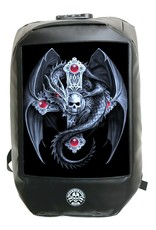 Anne Stokes Gothic tassen Steampunk tassen - Anne Stokes Bad to the Bone Gothic Guardian Rugzak 3D