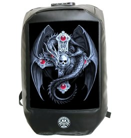 Bad to the Bone Gothic Guardian Backpack with 3D image