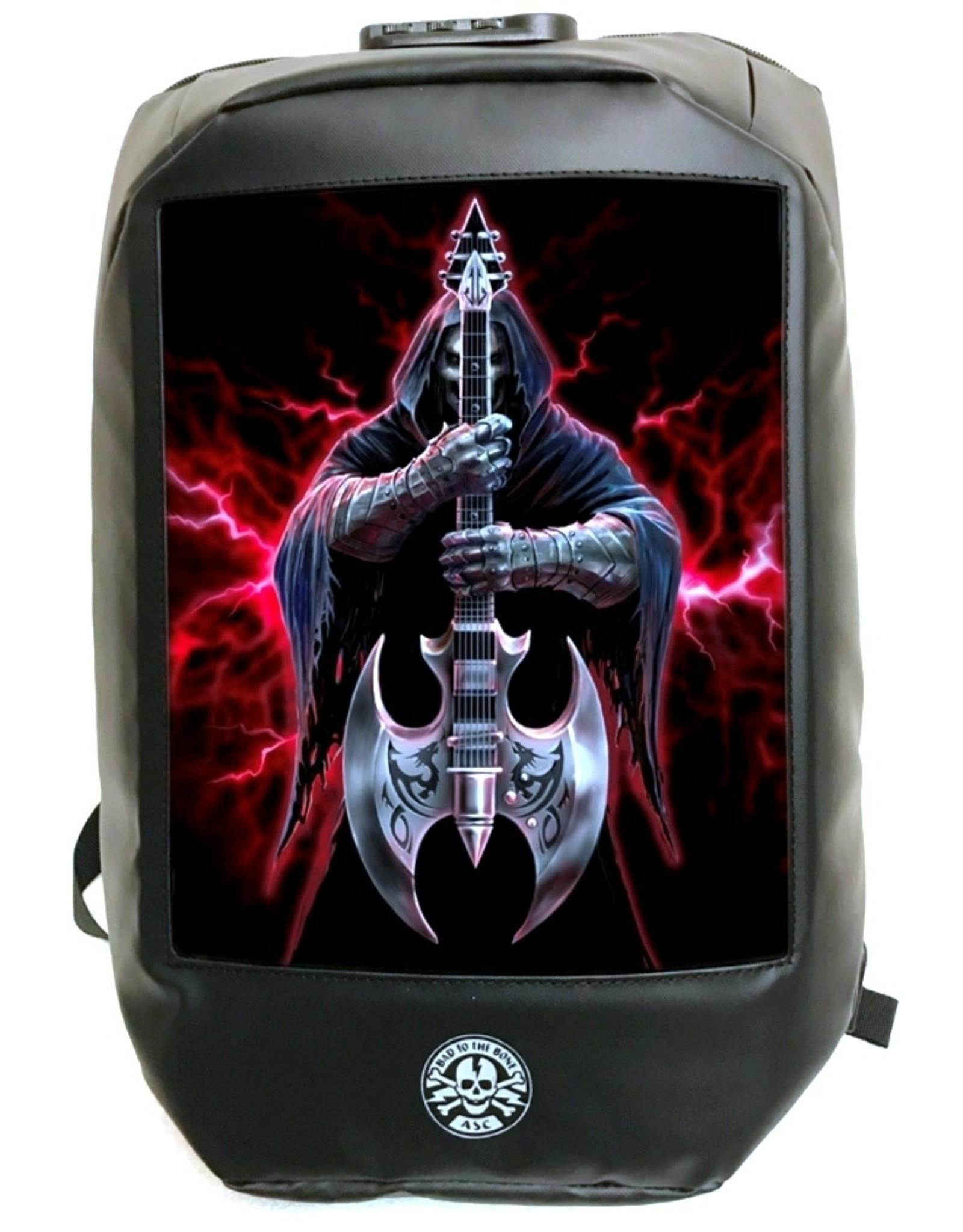 Anne Stokes Gothic tassen Steampunk tassen -  Anne Stokes Bad to the Bone Rock God 3D Laptop rugtas