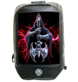 Bad to the Bone Rock God Backpack with 3D image