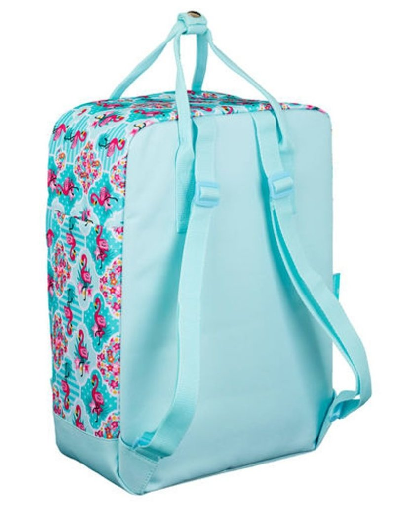 Moos Merchandise bags - Moos Flamingo Turquoise backpack rectangle