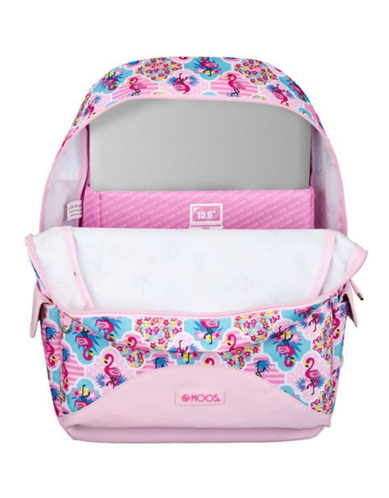 Moos Fantasy tassen - Moos Flamingo Pink Laptop Rugzak