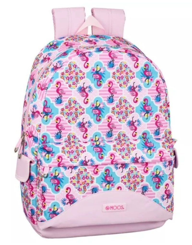 Moos Merchandise bags - Moos Flamingo Pink Laptop Backpack