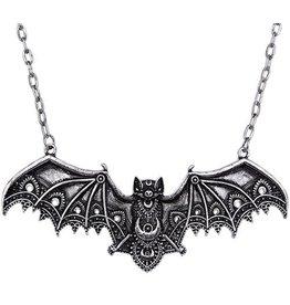 Gothic necklace with Lace Bat pendant