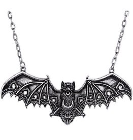 Restyle Gothic necklace with Lace Bat pendant