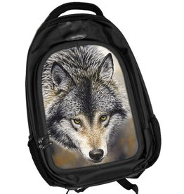 Caszmy Collection 3D lenticular Wolf backpack Nature's Beauty