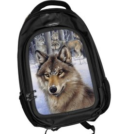 Caszmy Collection 3D lenticular backpack Wolf Pack