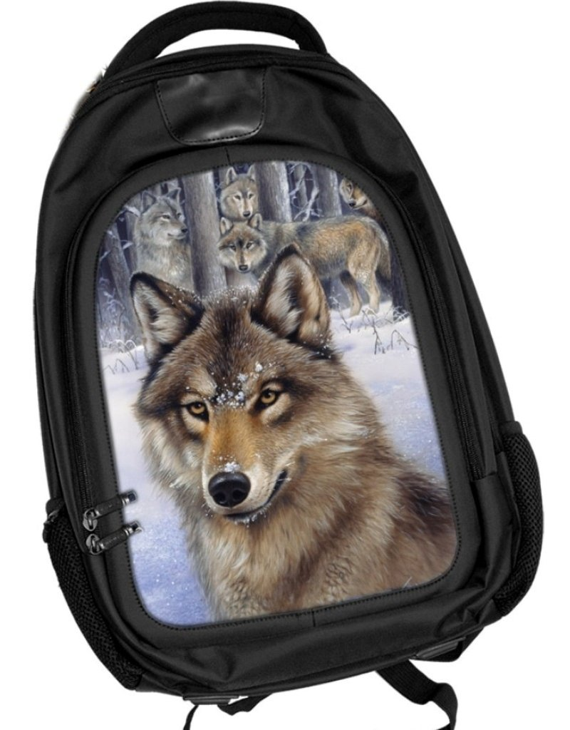 Caszmy Fantasy bags - Caszmy Collection 3D lenticular backpack Wolf Pack