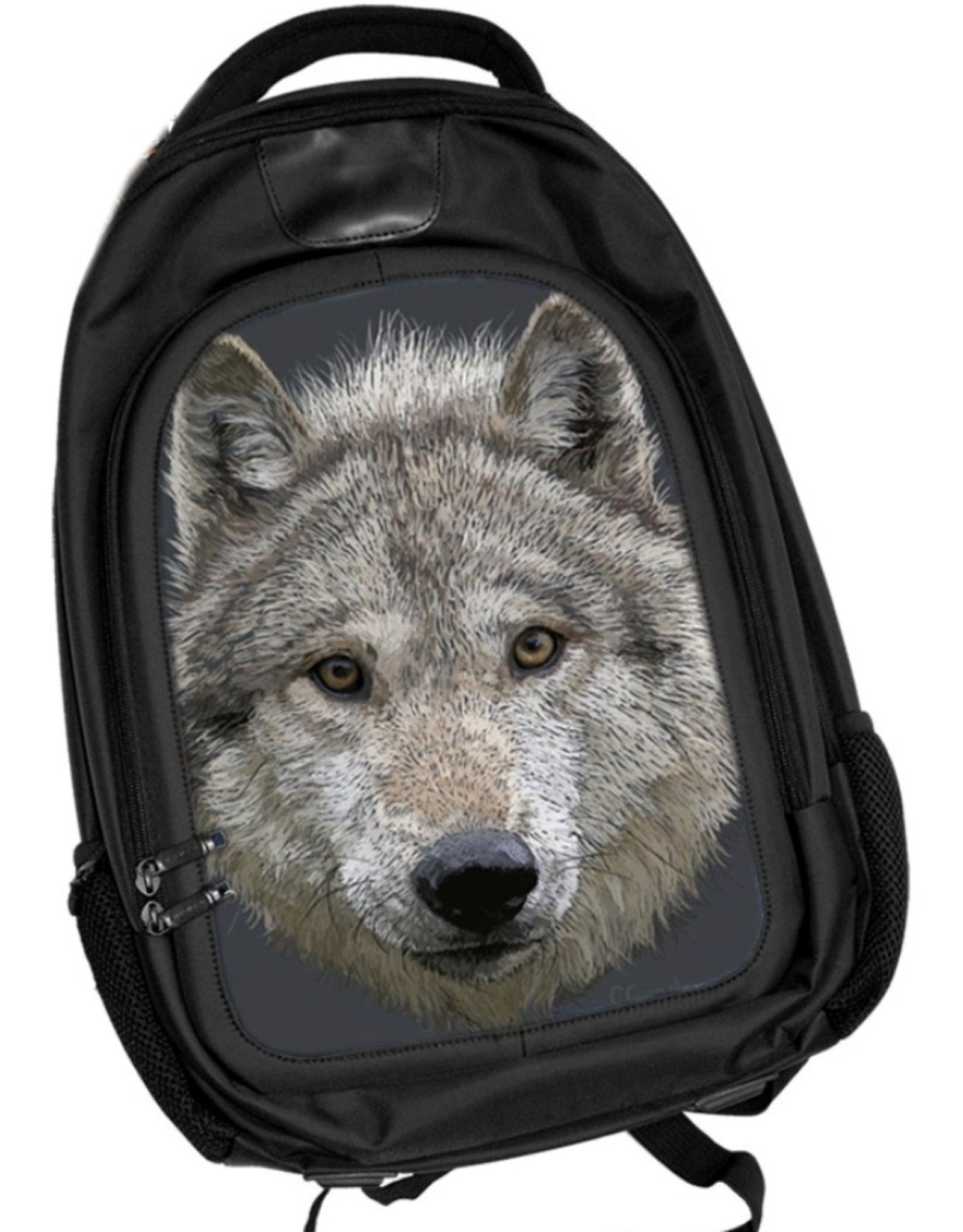 Caszmy Fantasy bags - Caszmy Collection 3D lenticular Wolf Stare backpack