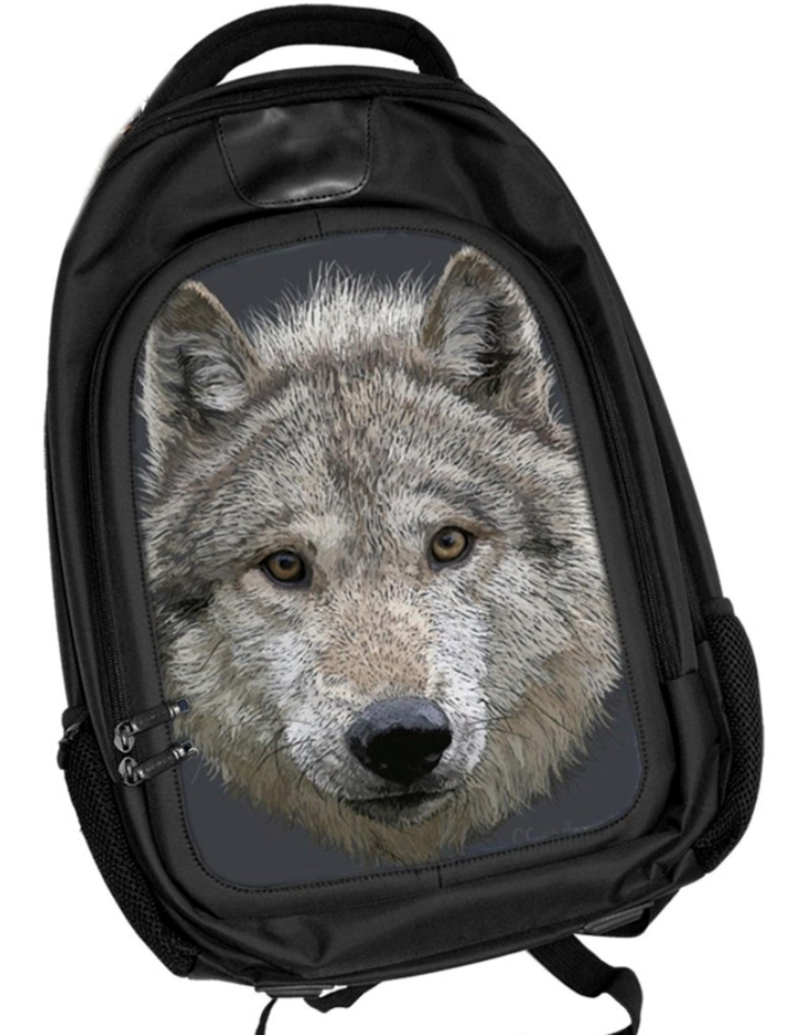 Caszmy Fantasy tassen -  Caszmy Collection 3D Wolf Stare rugzak