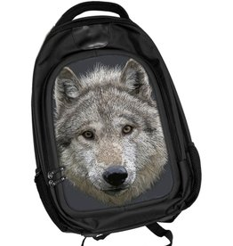 Caszmy Collection 3D lenticular Wolf Stare backpack