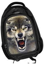 Merchandise bags - Caszmy Collection 3D Wolf backpack