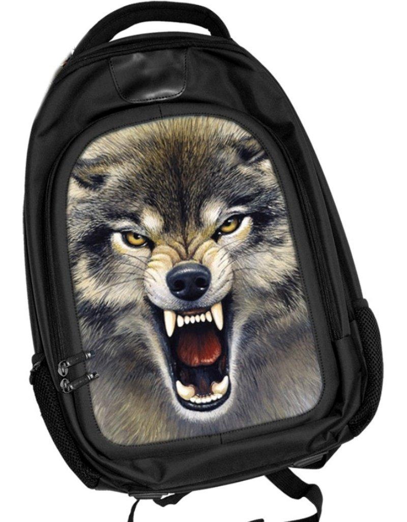 Merchandise tassen - Caszmy Collection 3D Wolf rugzak