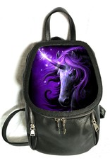 SheBlackDragon Fantasy bags - SheBlackDragon 3D lenticular Black Magic Unicorn backpack