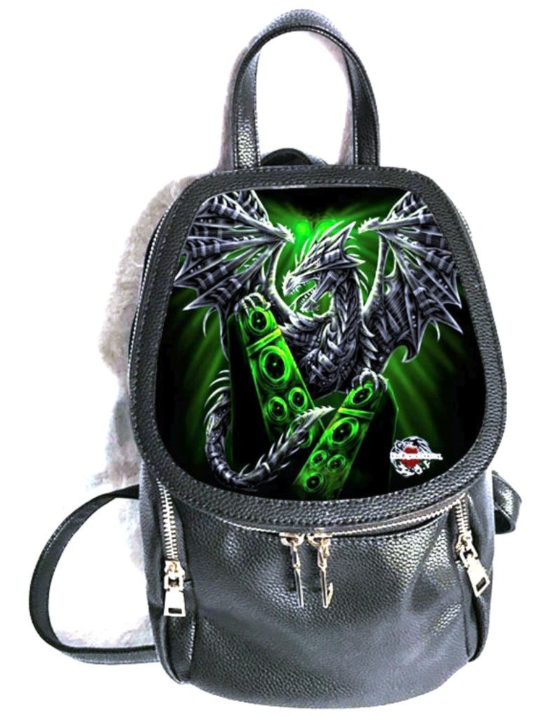 SheBlackDragon Gothic tassen Steampunk tassen - SheBlackDragon 3D Electric Dragon rugtas