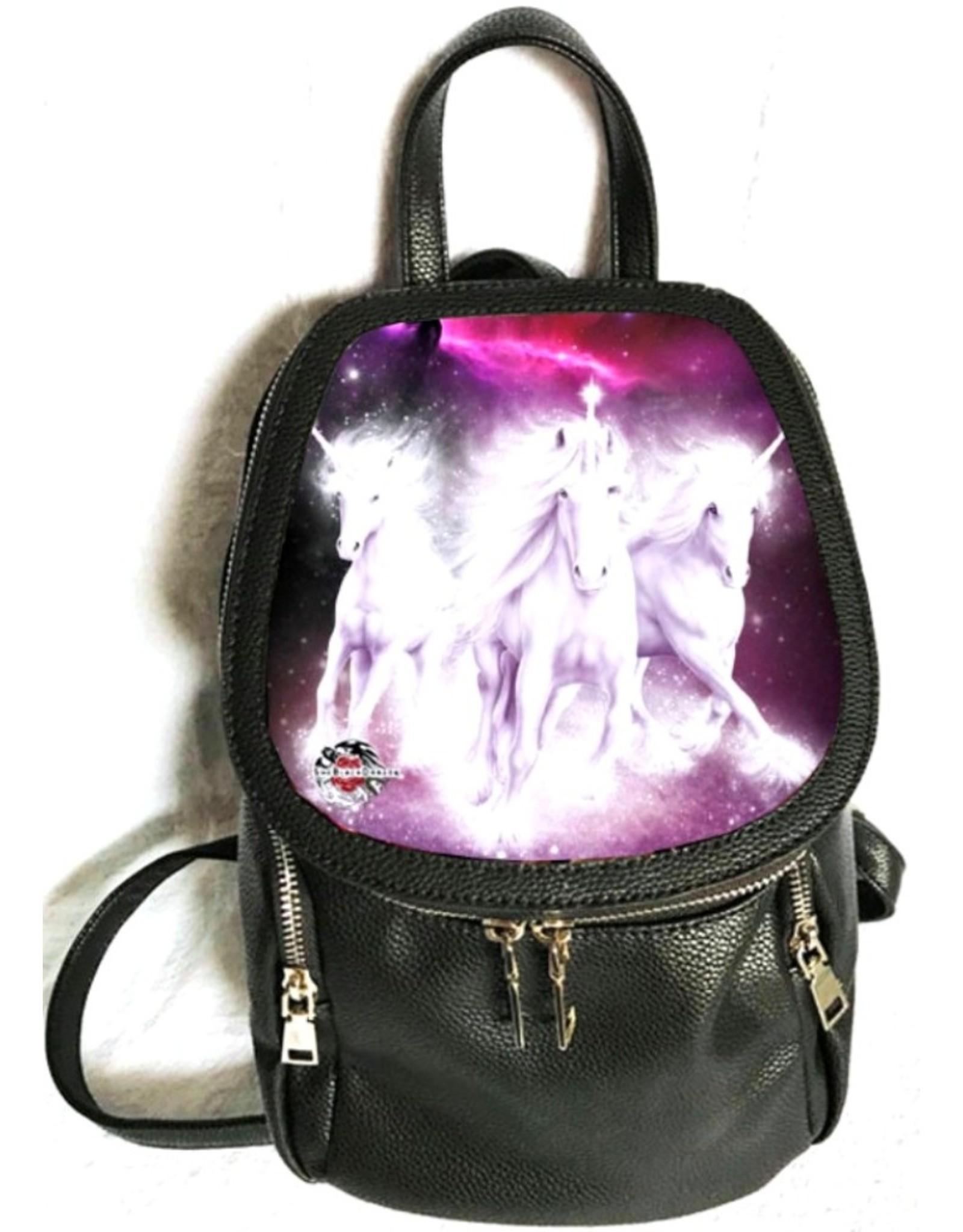 SheBlackDragon Fantasy tassen -  SheBlackDragon 3D Cosmic Unicorns rugtas
