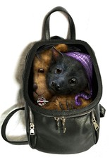SheBlackDragon Gothic bags Steampunk bags - SheBlackDragon 3D lenticular Baby Bats backpack