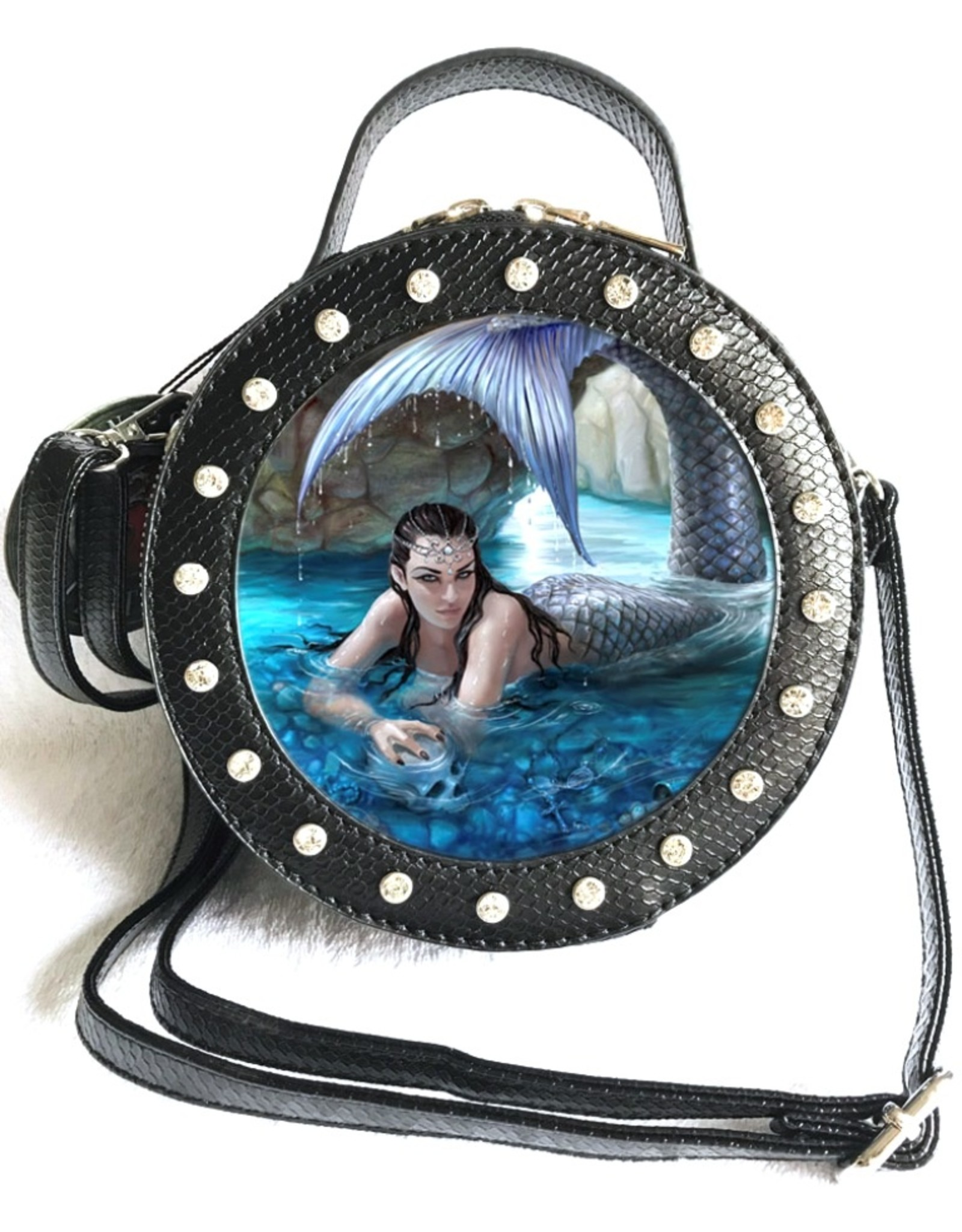 Anne Stokes Fantasy bags - Anne Stokes 3D lenticular Hidden Depths side bag