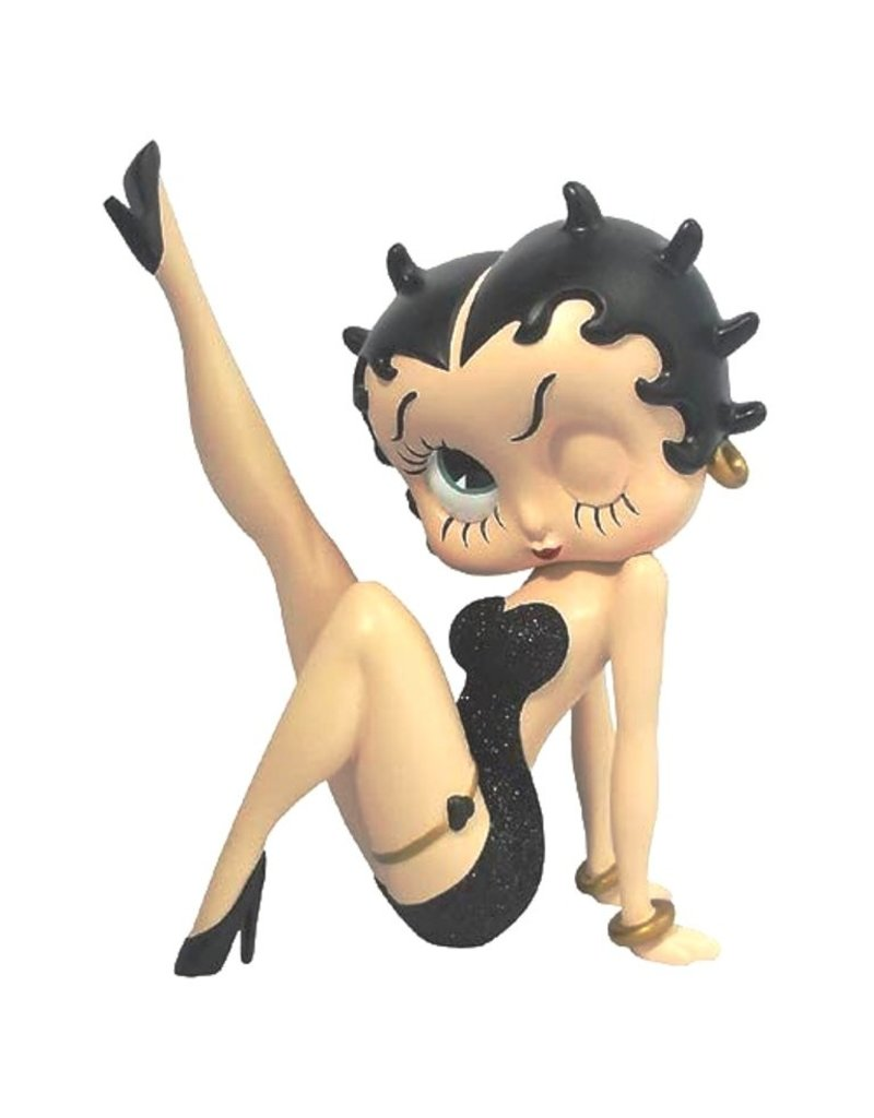 Betty Boop Betty Boop Collectables - Betty Boop leg up Black glitter