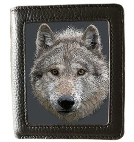 caszmy collection Caszmy Collection 3D  lenticular wallet Wolf Stare