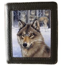 caszmy collection Caszmy Collection 3D  lanticular wallet Wolf Pack