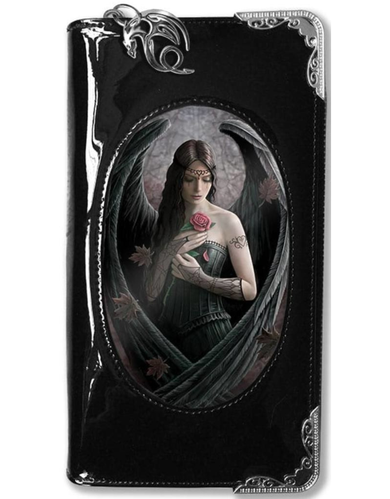 Anne Stokes Gothic wallets and purses - Anne Stokes 3D lenticular purse Angel Rose