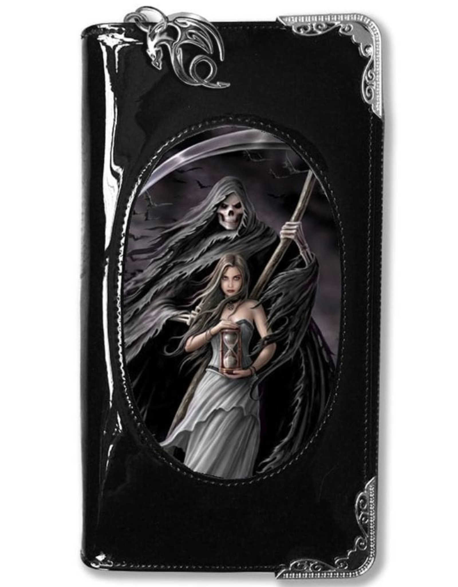 Anne Stokes Gothic wallets and purses - Anne Stokes 3D lenticukar purse Summon The Reaper