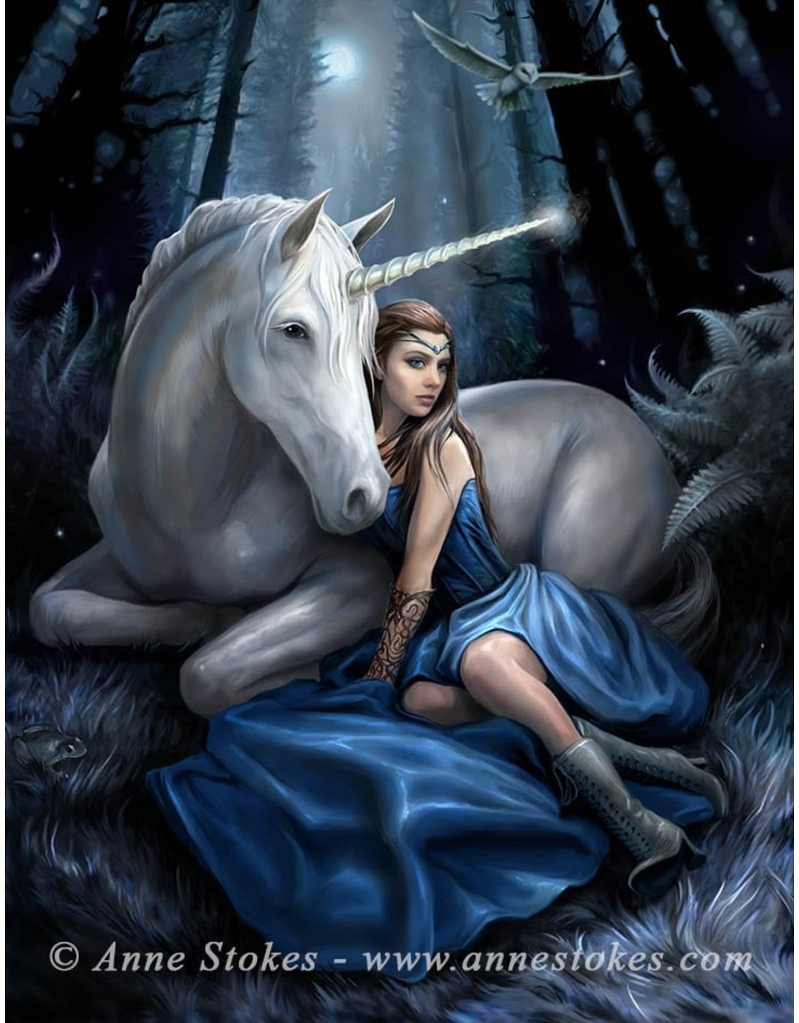 Anne Stokes Fantasy tassen en portemonnees - Anne Stokes 3D portemonnee Blue Moon