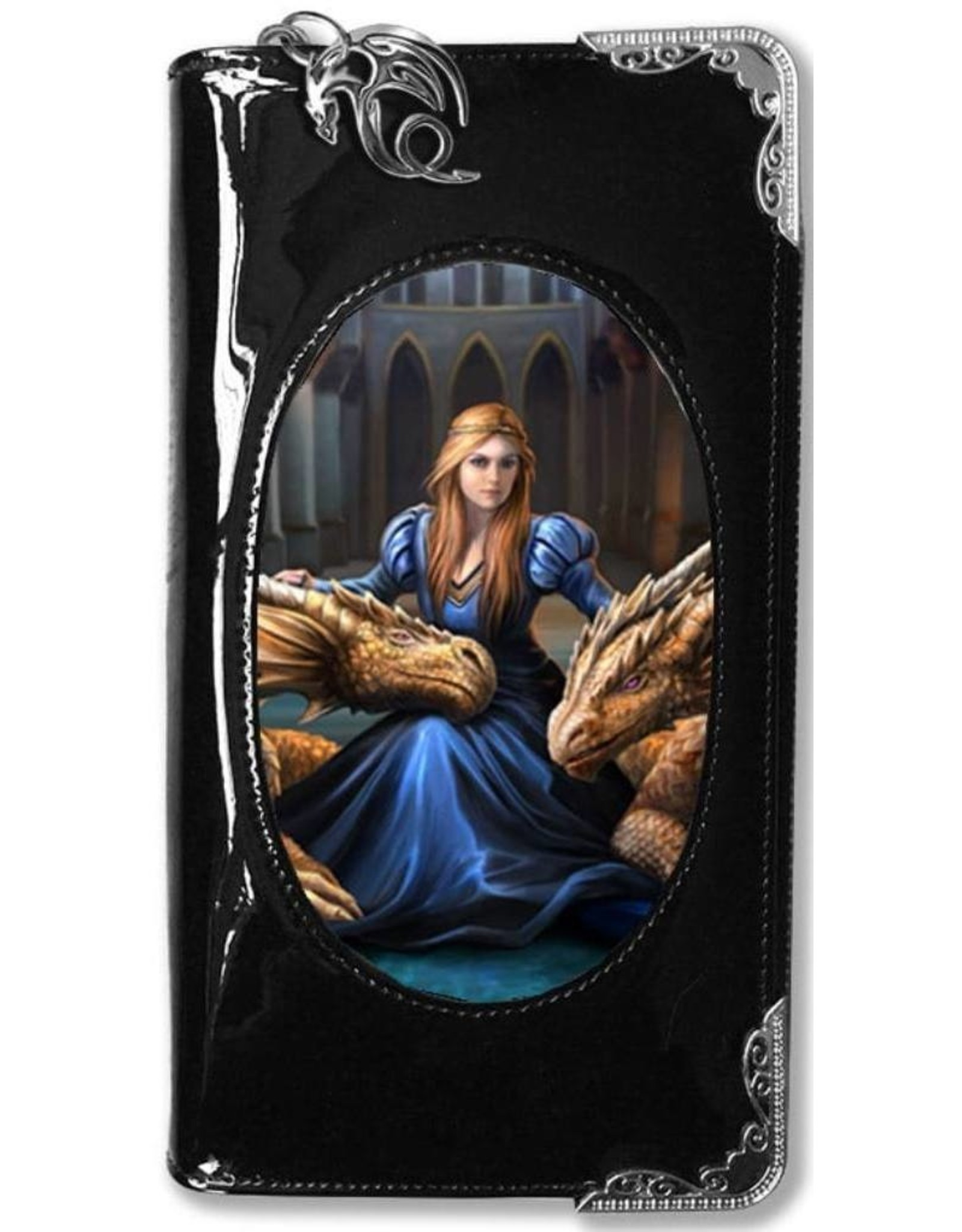 Anne Stokes Fantasy bags and wallets - Anne Stokes 3D lenticular purse Fierce Loyalty