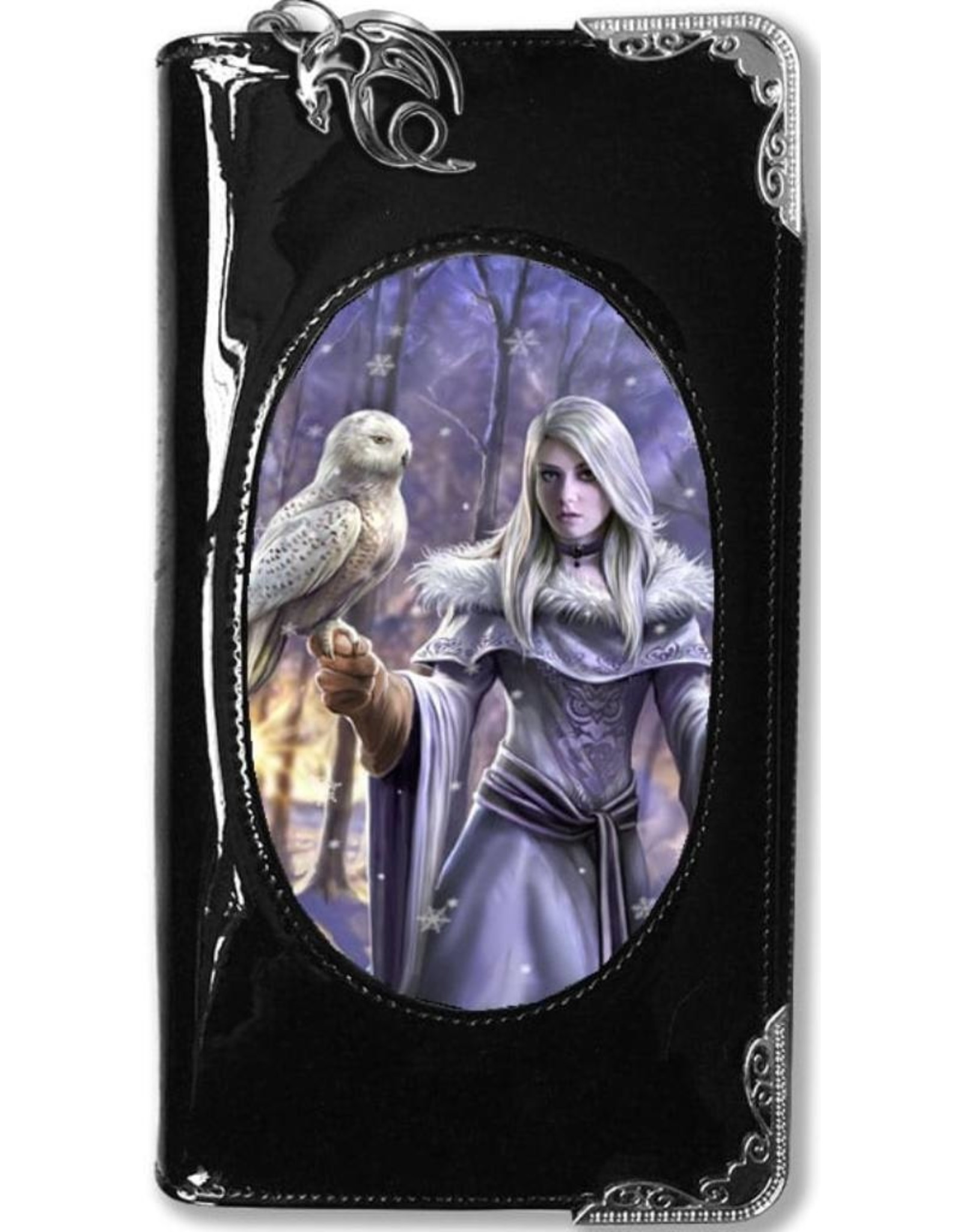 Anne Stokes Fantasy bags and wallets - Anne Stokes 3D lenticular purse Winter Owl