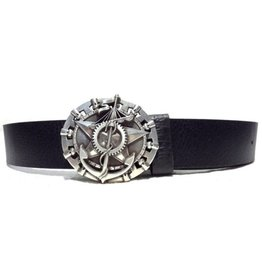 Acco Leather Belt with Buckle Maritime