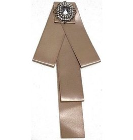 Gothic Steampunk Brooch Ribbon Beige