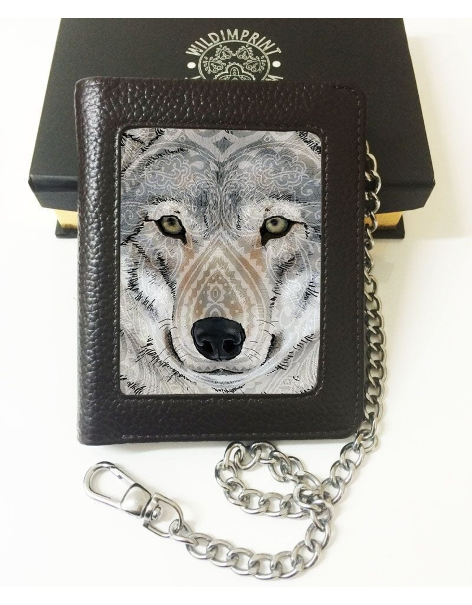 John Woodward 3D wallets - John J. Woodward 3D lenticular wallet Wolf