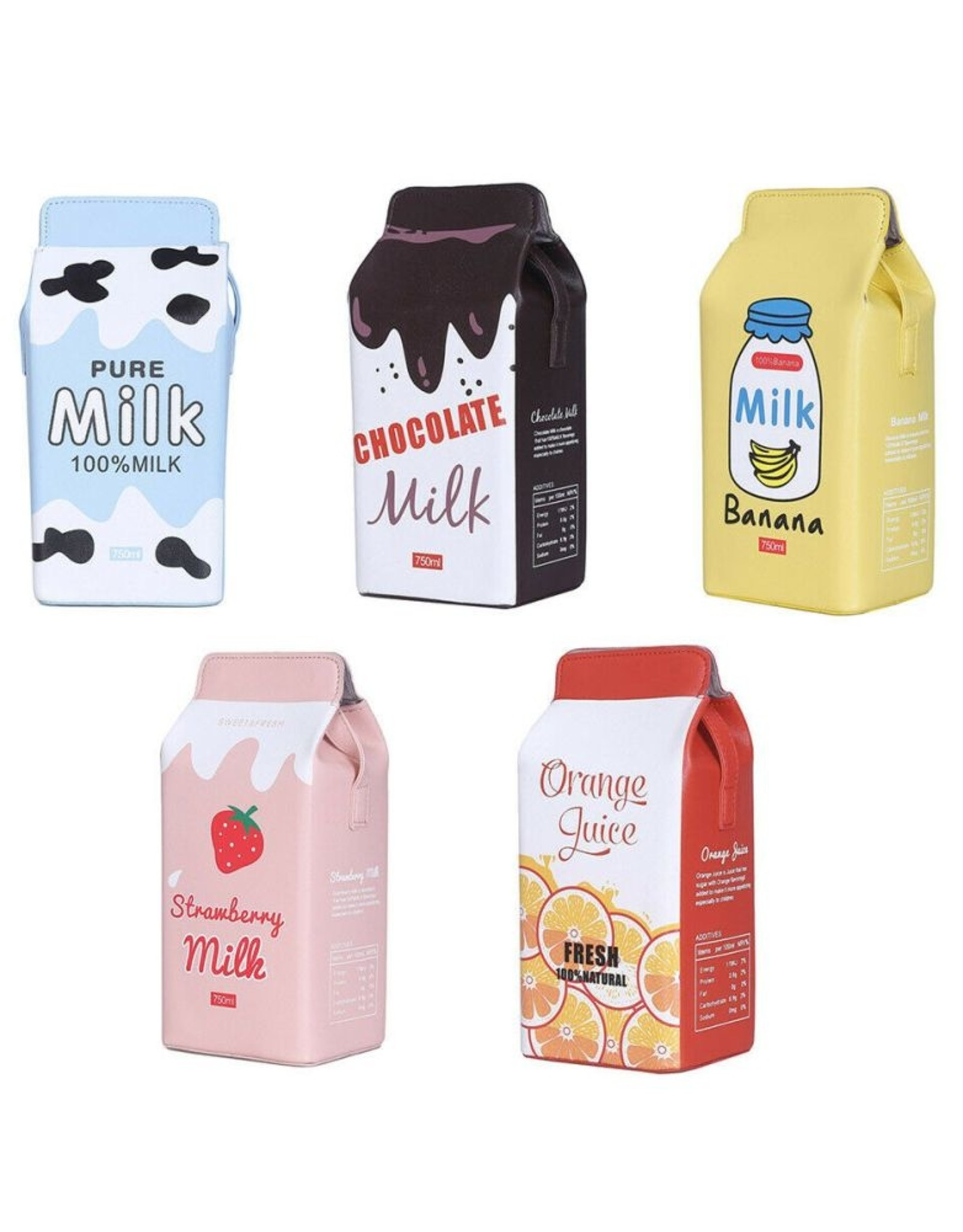 Magic Bags Fantasy bags and wallets - Fantasy bag Pack of Milk Strawberry