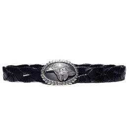 Acco Leather Belt with Buckle Eagle
