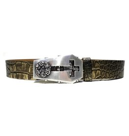 Acco Leather Belt with Buckle Casket