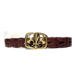 Acco Leather Belt with Buckle Lily Gold
