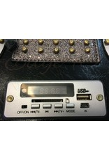 Magic Bags Fantasy bags - Boombox Retro Radio bag with real WORKING radio black