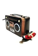 Magic Bags Fantasy tassen - Boombox Retro Radio tas met WERKENDE Radio zwart