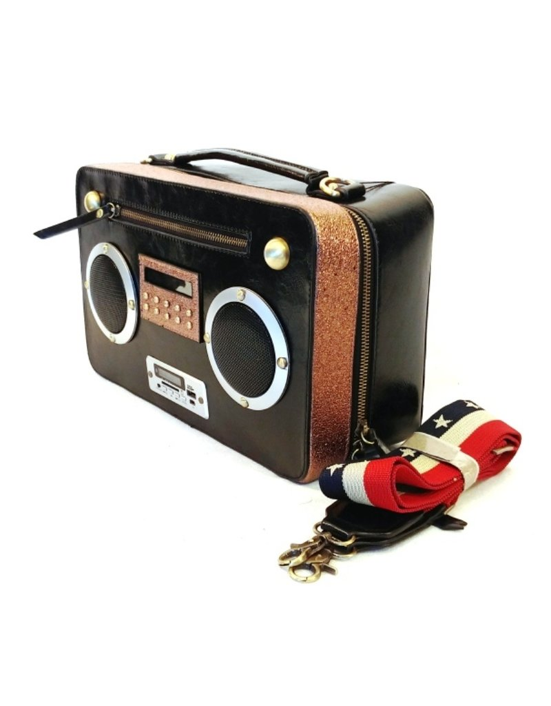 Magic Bags Fantasy bags - Fantasy bag with real working radio black