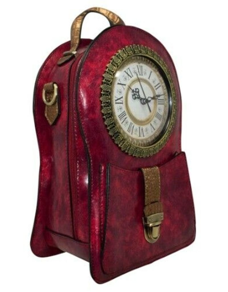 Magic Bags Gothic bags Steampunk bags - Stempunk Backpack with Real Working Clock