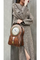 Magic Bags Gothic bags Steampunk bags - Steampunk Backpack with Real Working Clock