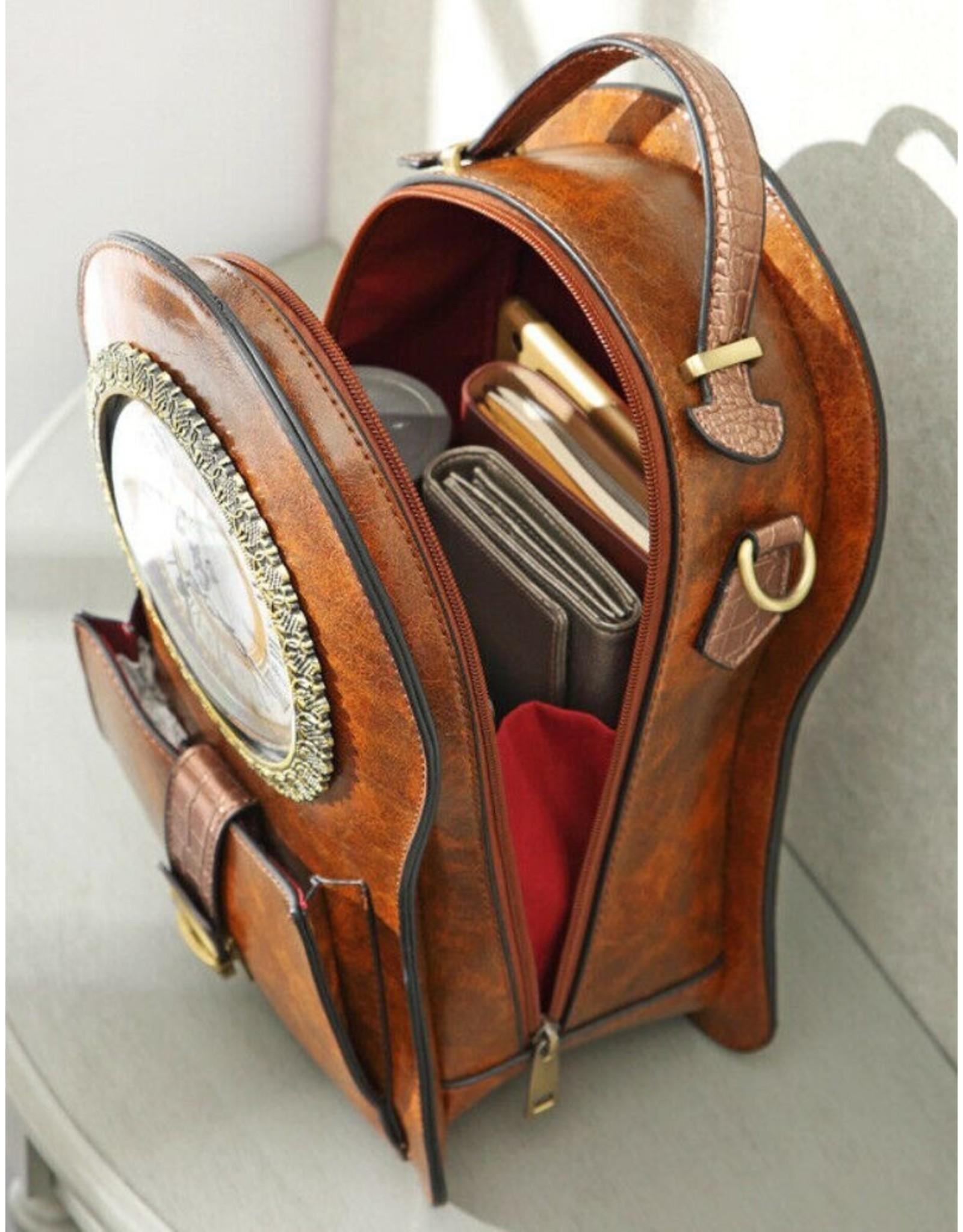 Magic Bags Gothic tassen Steampunk tassen -   Steampunk Rugtas met Echte  Klok